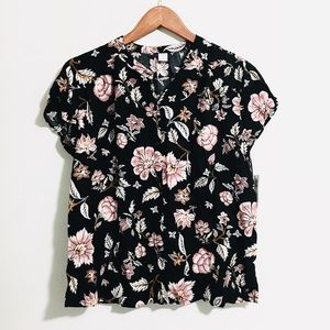• black & pink floral blouse // NWT •